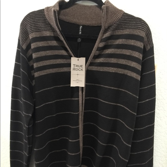 TRUE ROCK Other - NWT True Rock Zip cardigan black and taupe